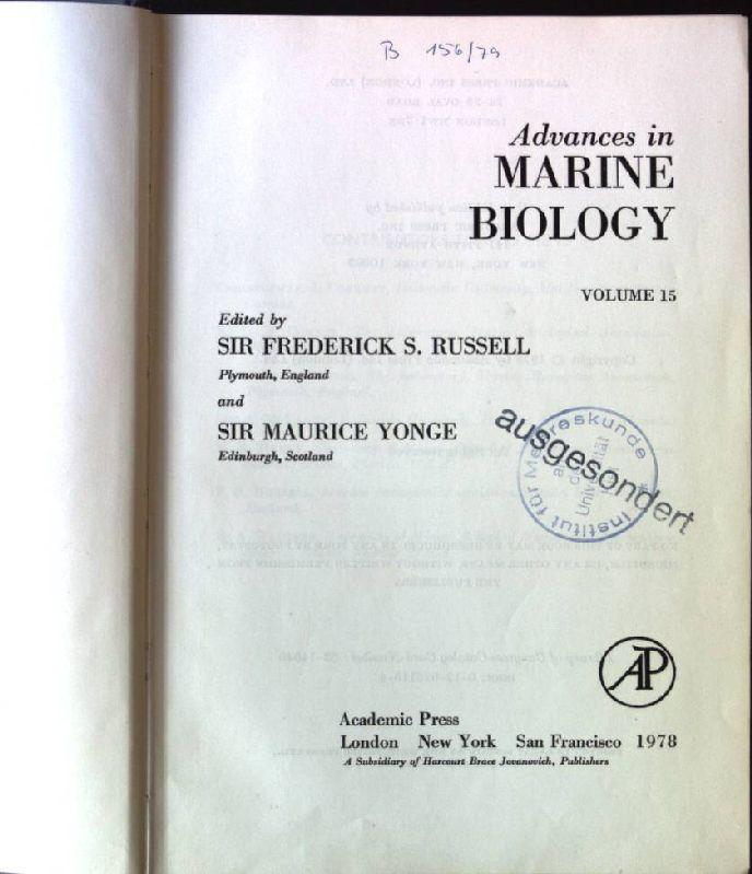 Advances in Marine Biology: v. 15 - Russell, Sir Frederick Stratten and Sir C. M. Yonge