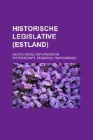Historische Legislative (Estland)