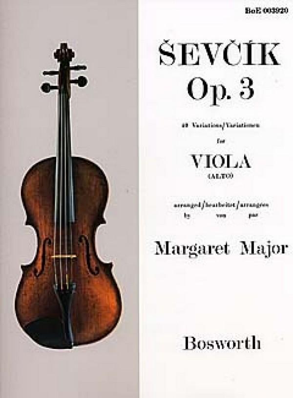 Sevcik for Viola - Opus 3: 40 Variations