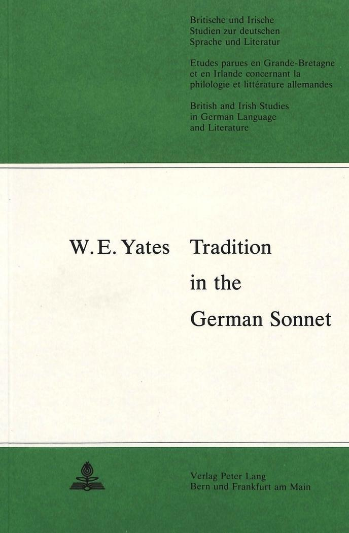Tradition in the German Sonnet - W. E. Yates