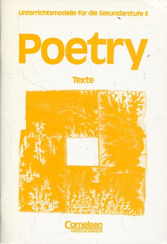 Poetry - Problems of Material, Form and Intention. Textsammlung