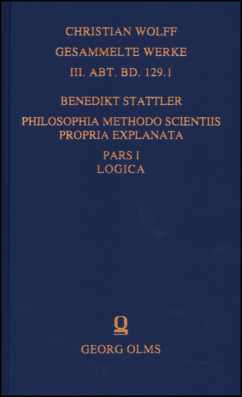 Philosophia methodo scientiis propria explanata, 8 Bände. - Stattler, Benedikt