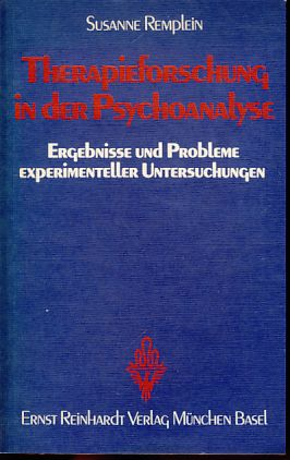 Therapieforschung in der Psychoanalyse: Ergebnisse u. Probleme experimenteller Unters (Psychologie und Person ; Bd. 19) (German Edition)