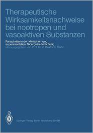 Therapeutische Wirksamkeitsnachweise bei nootropen und vasoaktiven Substanzen: Fortschritte in der klinischen und experimentellen Nicergolin-Forschung (German Edition)