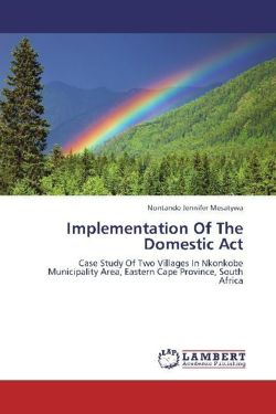 Implementation Of The Domestic Act - Mesatywa, Nontando Jennifer