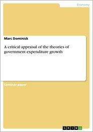 A critical appraisal of the theories of government expenditure growth