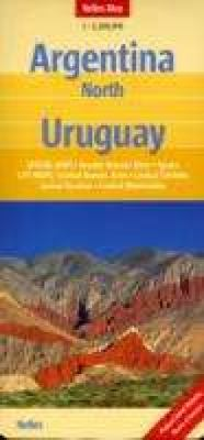 Northern Argentina and Uruguay Map (Nelles Maps) (English, French, Italian and German Edition) - Nelles