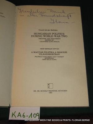 Hungarian politics during World War Two: Treatise and indictment (Studia Hungaria)