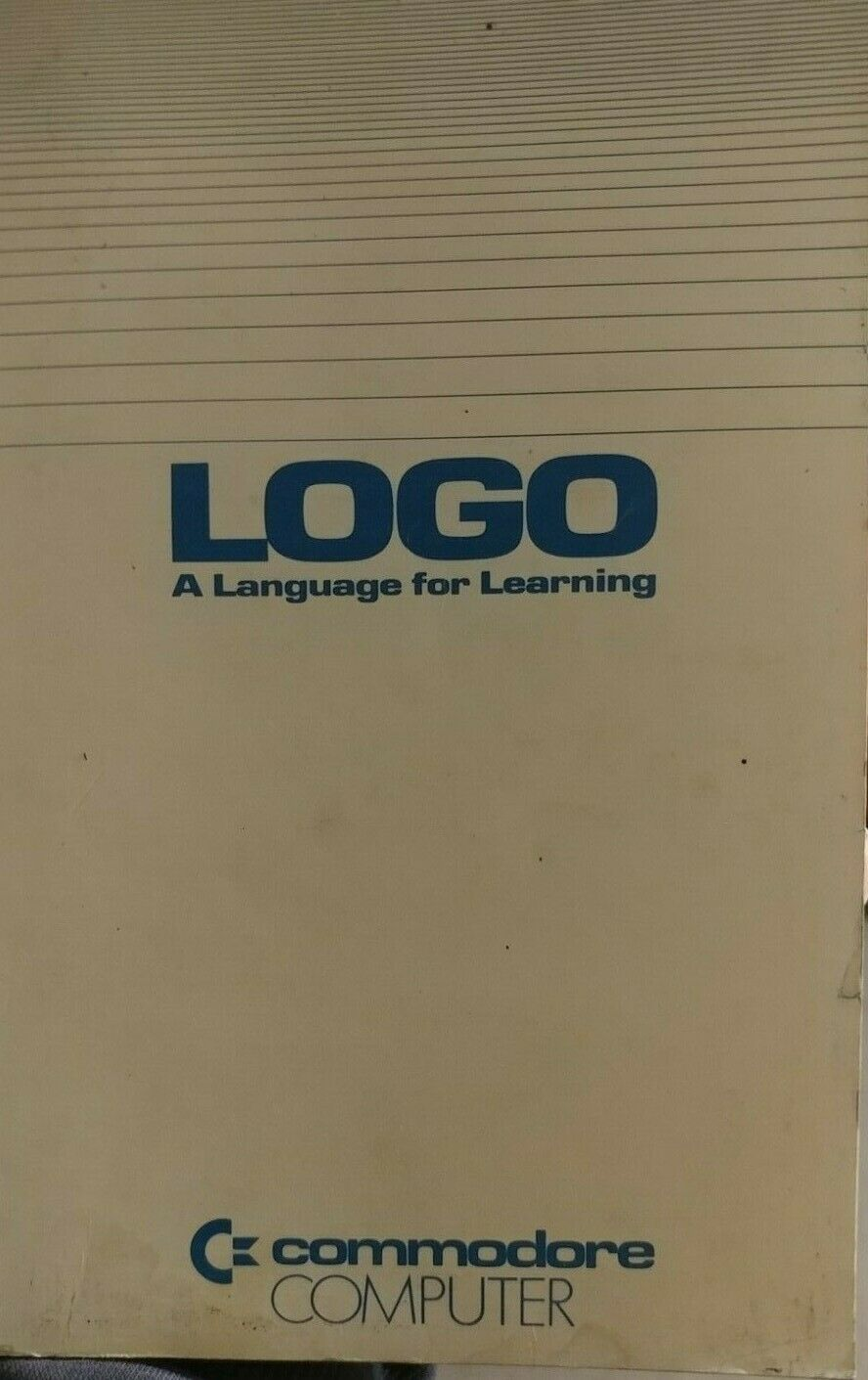 Commodore LOGO a Language for Learning Tutorial (Terapin 1983 Buch) ENGLISH - Commodore