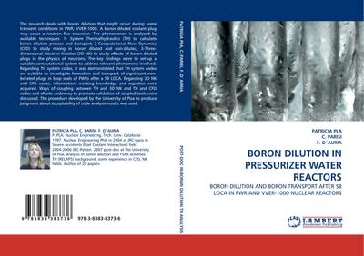 Boron Dilution in Pressurizer Water Reactors : Boron Dilution and Boron Transport after SB LOCA in PWR and VVER-1000 Nuclear Reactors - Patricia Pla