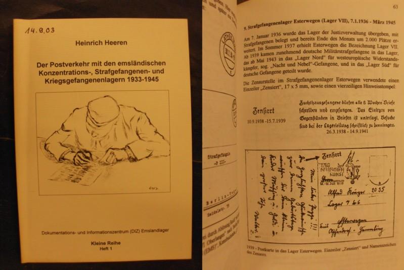 Der Postverkehr mit den emsländischen Konzentrations-, Strafgefangenen- und Kriegsgefangenenlagern 1933-1945 - Heeren, Heinrich