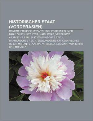 Historischer Staat (Vorderasien) - B Cher Gruppe (Editor)