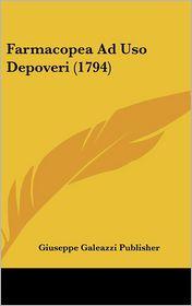 Farmacopea Ad USO Depoveri (1794)