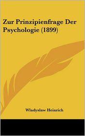 Zur Prinzipienfrage Der Psychologie (1899)
