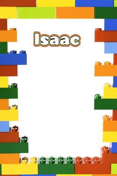 Isaac: Personalized Building Brick Isometric Dot Paper Journal, Diary Notebook, Log Featuring 120 Pages 6x9 - Rob Cole