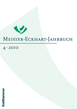 Meister-Eckhart-Jahrbuch  - Band 4/2010: Bd 4