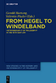 From Hegel to Windelband - Gerald Hartung;  Valentin Pluder