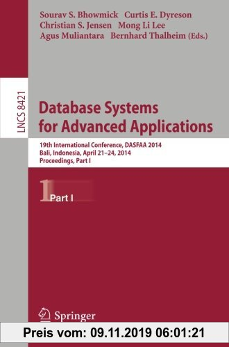 Gebr. - Database Systems for Advanced Applications: 19th International Conference, DASFAA 2014, Bali, Indonesia, April 21-24, 2014. Proceedings, Part