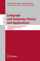Language and Automata Theory and Applications - Adrian-Horia Dediu; Enrico Formenti; Carlos Martín-Vide; Bianca Truthe