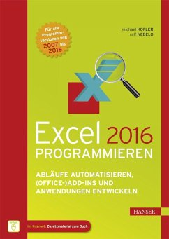 Excel 2016 programmieren (eBook, ePUB)