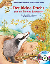 Der kleine Dachs und die Tiere als Baumeister, m. Audio-CD