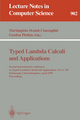 Typed Lambda Calculi and Applications - Mariangiola Dezani-Ciancaglini; Gordon Plotkin
