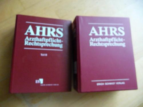 AHRS - Arzthaftpflicht-Rechtsprechnung - Teil I (ORDNER) + Teil II (5 ORDNER) (10 ORDNER) - Dr. Ernst Ankermann u.a.