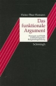Das funktionale Argument - Heinz Th Homann