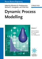 Process Systems Engineering: Volume 7: Dynamic Process Modeling