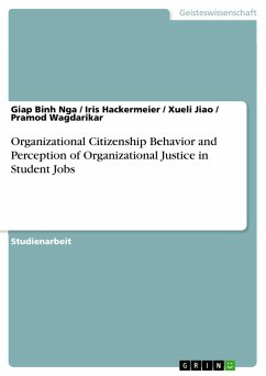 Organizational Citizenship Behavior and Perception of Organizational Justice in Student Jobs (German Edition)