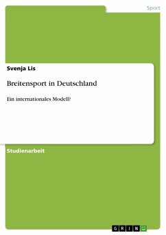 Breitensport in Deutschland - Lis, Svenja