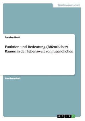 Akademische Schriftenreihe: Funktion und Bedeutung  (öffentlicher) Räume in der Lebenswelt von Jugendlichen - Rust, Sandra