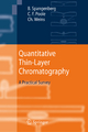 Quantitative Thin-Layer Chromatography - Bernd Spangenberg; Colin F. Poole; Christel Weins