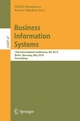 Business Information Systems - Witold Abramowicz;  Robert Tolksdorf (Eds.)