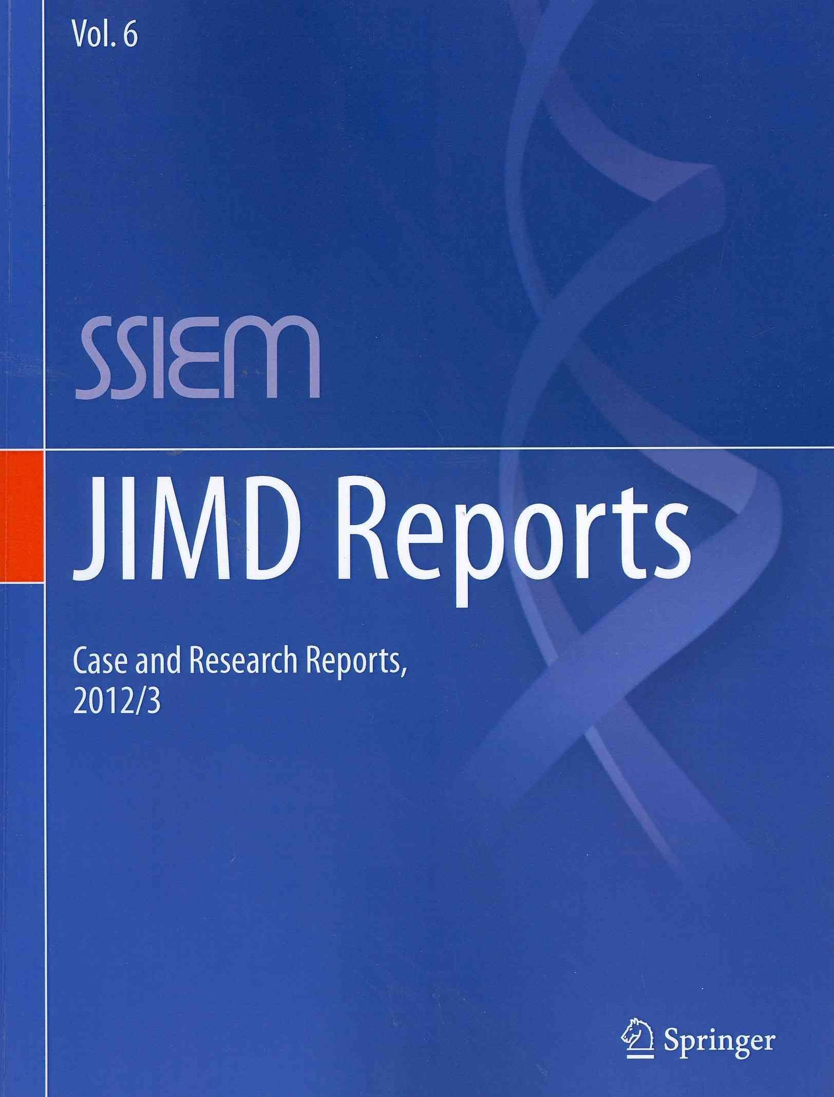 JIMD Reports - Case and Research Reports 2012/13 - Society for the Study of Inborn Errors of Metabolism