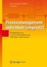 Prozessmanagement individuell umgesetzt - Eva-Maria Kern (editor)