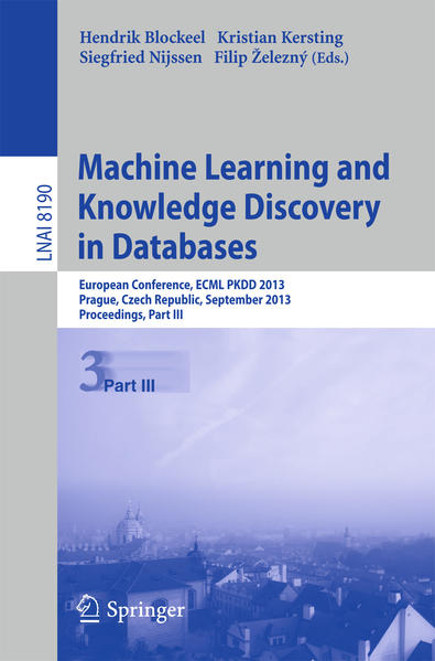 Machine Learning and Knowledge Discovery in Databases als Buch von - Springer