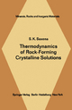 Thermodynamics of Rock-Forming Crystalline Solutions - S. K. Saxena