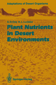 Plant Nutrients in Desert Environments - Arden D. Day; Kenneth L. Ludeke