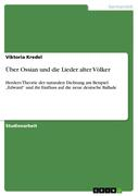 Kredel, Viktoria: Über Ossian und die Lieder alter Völker