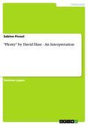 Picout, Sabine: Plenty by David Hare - An Interpretation
