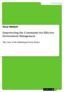 Mmbali, Oscar: Empowering the Community for Effective Environment Management