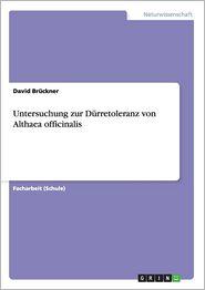 Untersuchung zur D�rretoleranz von Althaea officinalis (German Edition)