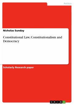 Constitutional Law, Constitutionalism and Democracy - Sunday, Nicholas