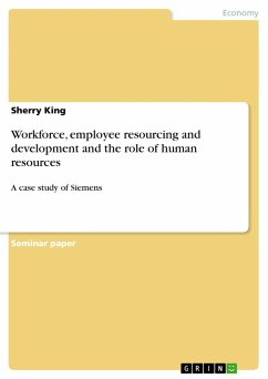 Workforce, employee resourcing and development and the role of human resources - King, Sherry