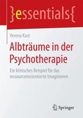 Albträume in der Psychotherapie - Verena Kast