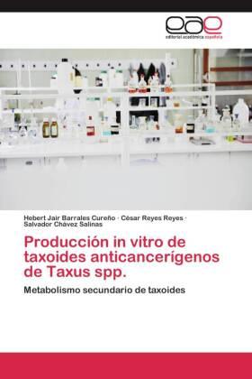 Producción in vitro de taxoides anticancerígenos de Taxus spp. - Metabolismo secundario de taxoides - Barrales Cureño, Hebert Jair / Reyes Reyes, César / Chávez Salinas, Salvador