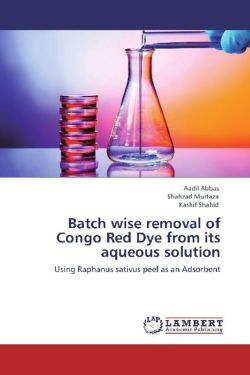 Batch wise removal of Congo Red Dye from its aqueous solution