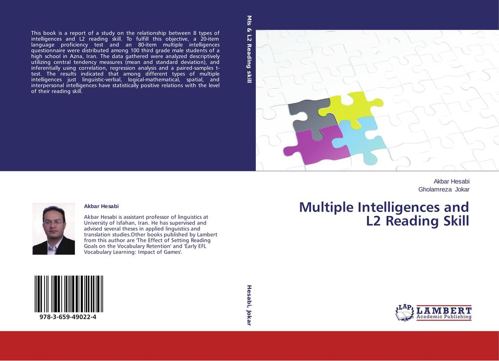 Multiple Intelligences and L2 Reading Skill als Buch von Akbar Hesabi, Gholamreza Jokar - LAP Lambert Academic Publishing