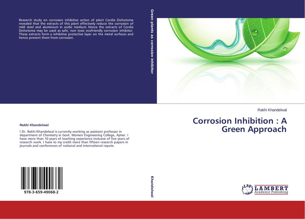 Corrosion Inhibition : A Green Approach als Buch von Rakhi Khandelwal - LAP Lambert Academic Publishing